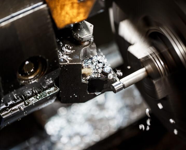 Close up of metal working machine